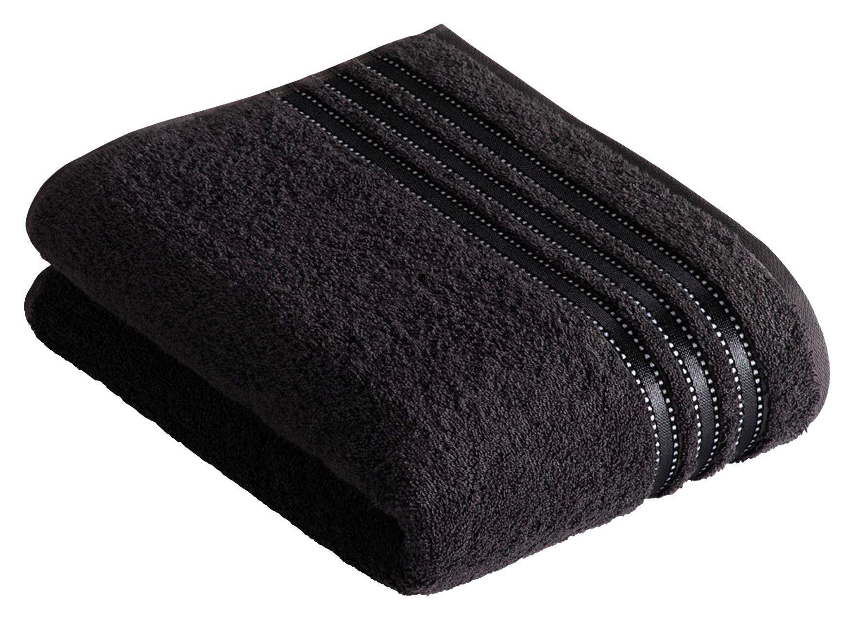 DUSCHTUCH 67/140 cm - Schwarz, Basics, Textil (67/140cm) - VOSSEN