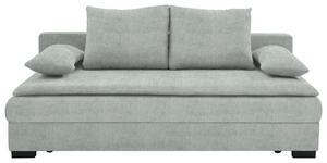 SCHLAFSOFA in Textil Hellgrau - Hellgrau/Schwarz, KONVENTIONELL, Kunststoff/Textil (207/74-94/90cm) - Venda