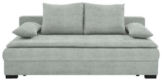 SCHLAFSOFA Webstoff Hellgrau - Hellgrau/Schwarz, KONVENTIONELL, Kunststoff/Textil (207/74-94/90cm) - Venda