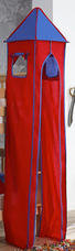 TURMSET Blau, Rot - Blau/Rot, Design, Textil (40/200/40cm)