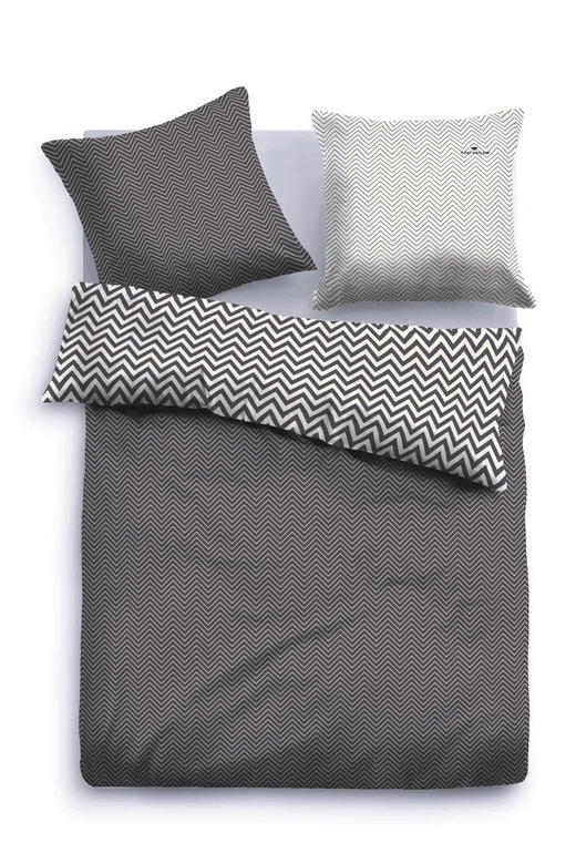 BETTWÄSCHE Satin Schwarz 200/200 cm - Schwarz, Textil (200/200cm) - Tom Tailor