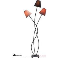 STEHLEUCHTE - Beige/Multicolor, Design, Textil/Metall (50/130/18cm) - Kare-Design