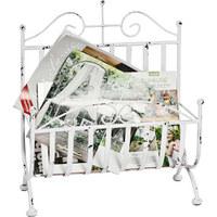STOJAN NA NOVINY - bílá, Design, kov (37/44/18cm) - Ambia Home
