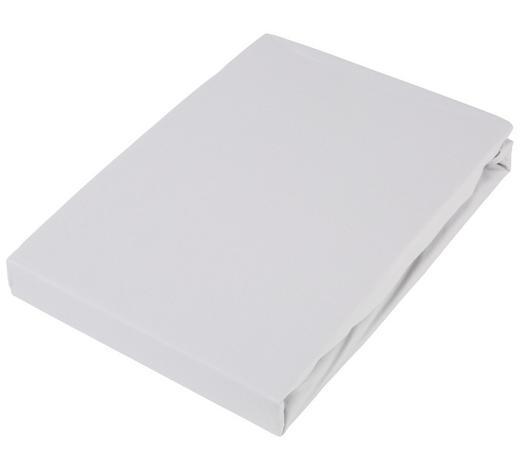 TOPPER-SPANNLEINTUCH 90/220 cm - Hellgrau, Basics, Textil (90/220cm) - Novel