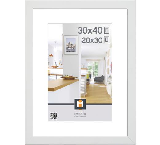 BILDERRAHMEN in Weiß  - Weiß, Basics, Glas/Kunststoff (43/33/3cm)
