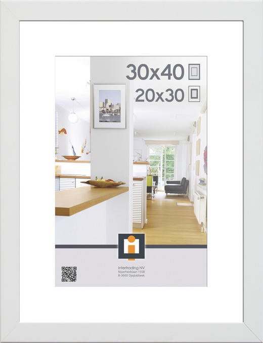 RÁM NA OBRAZY - bílá, Basics, umělá hmota/sklo (43/33/3cm)