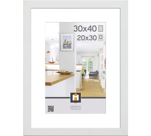 RÁM NA OBRAZY, 43/33/3 cm, bílá - bílá, Basics, umělá hmota/sklo (43/33/3cm)