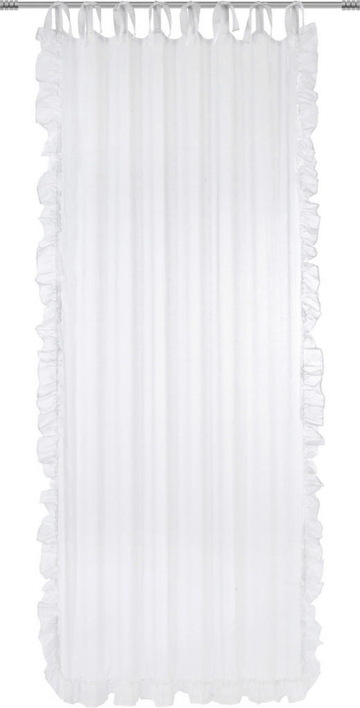 FERTIGVORHANG  halbtransparent  140/245 cm - Weiß, LIFESTYLE, Textil (140/245cm) - Landscape