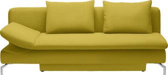 SCHLAFSOFA Gelb - Gelb/Alufarben, Design, Textil/Metall (213/90/94cm) - DIETER KNOLL