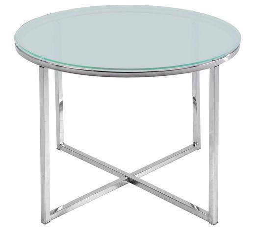 BEISTELLTISCH in Glas   - Chromfarben/Klar, Design, Glas/Metall (50/50cm) - Carryhome