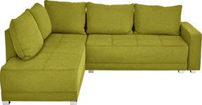 WOHNLANDSCHAFT in Textil Grün - Silberfarben/Schwarz, Design, Kunststoff/Textil (207/243cm) - Xora