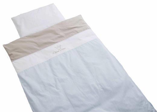 KINDERBETTWÄSCHE Blau, Weiß 100/135 cm - Blau/Weiß, Basics, Textil (100/135cm) - Bebe's Collection