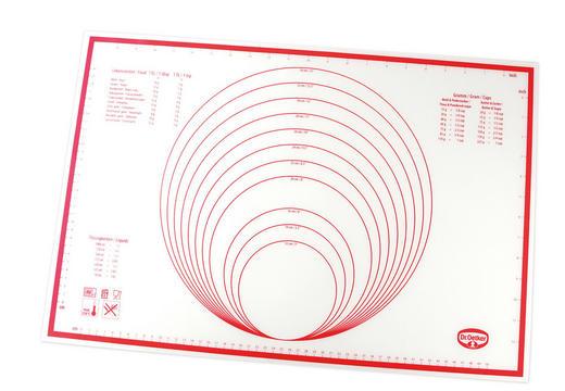 BACKMATTE - Rot/Weiß, Basics, Kunststoff (60/40cm) - Dr.Oetker