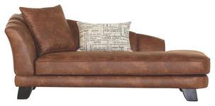CHAISELONGUE in Textil Braun  - Dunkelbraun/Braun, Design, Holz/Textil (202/80/103cm) - Novel