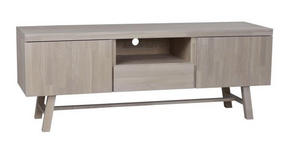 MEDIABÄNK - naturfärgad, Design, trä (160/60/45cm) - Rowico