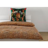 BETTWÄSCHE Satin Braun, Multicolor  - Multicolor/Braun, Trend, Textil (135x200cm) - Ambiente