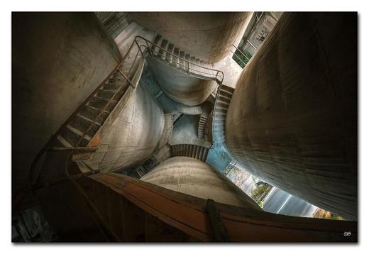 """Architektur BILD """"VERTIGO IS OVERRATED"""" - Multicolor, Basics, Holzwerkstoff/Kunststoff (120/80cm) - Wiedemann"""