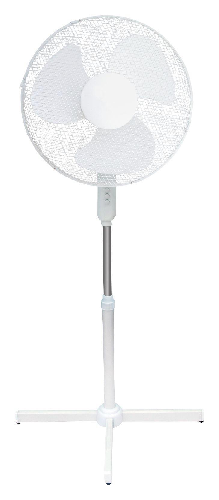 STANDVENTILATOR - Weiß, Basics, Kunststoff/Metall (60/60/120cm) - HOMEWARE