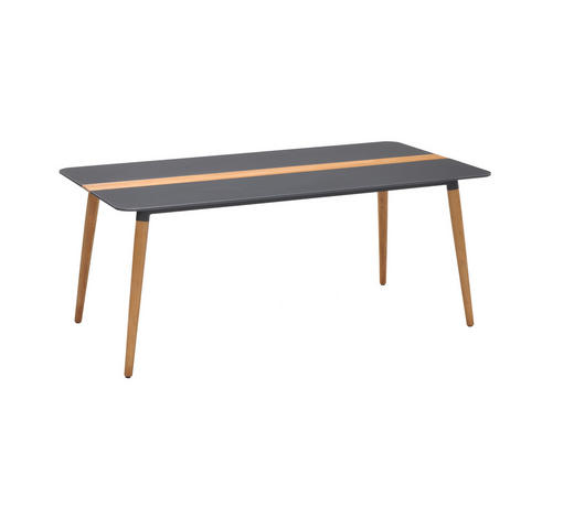 GARTENTISCH 180/95/75 cm - Naturfarben/Grau, Design, Holz/Kunststoff (180/95/75cm) - Amatio