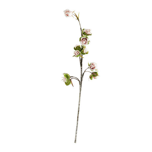 KUNSTBLUME Rose - Rosa/Grün, Basics, Kunststoff (85cm) - Ambia Home