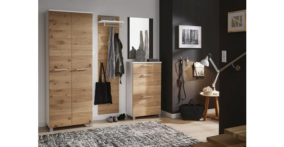 GARDEROBENPANEEL 80/109/27 cm  - Eichefarben/Weiß, Design, Holz/Holzwerkstoff (80/109/27cm) - Dieter Knoll
