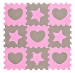 BODENPUZZLE - Rosa/Grau, Basics, Kunststoff (32/32/1cm) - My Baby Lou