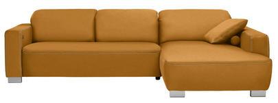 WOHNLANDSCHAFT in Orange Textil - Chromfarben/Orange, Design, Holz/Textil (296/195cm) - Hom`in