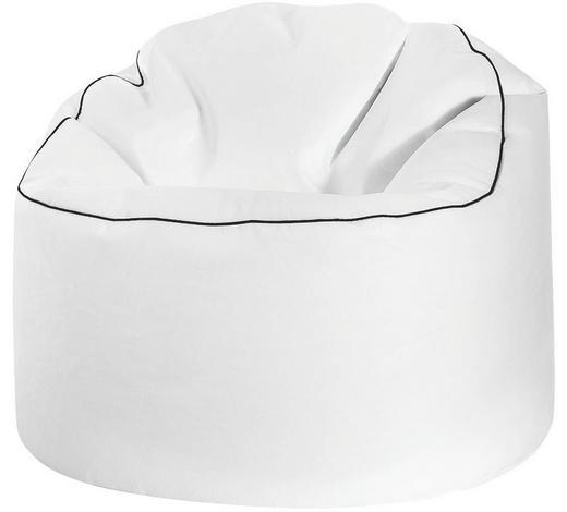 SITZSACK Lederlook  - Schwarz/Weiß, Design, Textil (80/80/75cm) - Carryhome