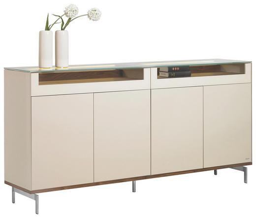 HIGHBOARD Walnuss massiv lackiert Hellbraun - Hellbraun/Alufarben, Design, Holz/Holzwerkstoff (202/99/46cm) - JOOP!