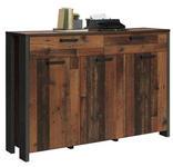 SIDEBOARD 156,4/108,7/41,6 cm  - Dunkelgrau/Dunkelbraun, Trend, Holzwerkstoff/Kunststoff (156,4/108,7/41,6cm) - Carryhome