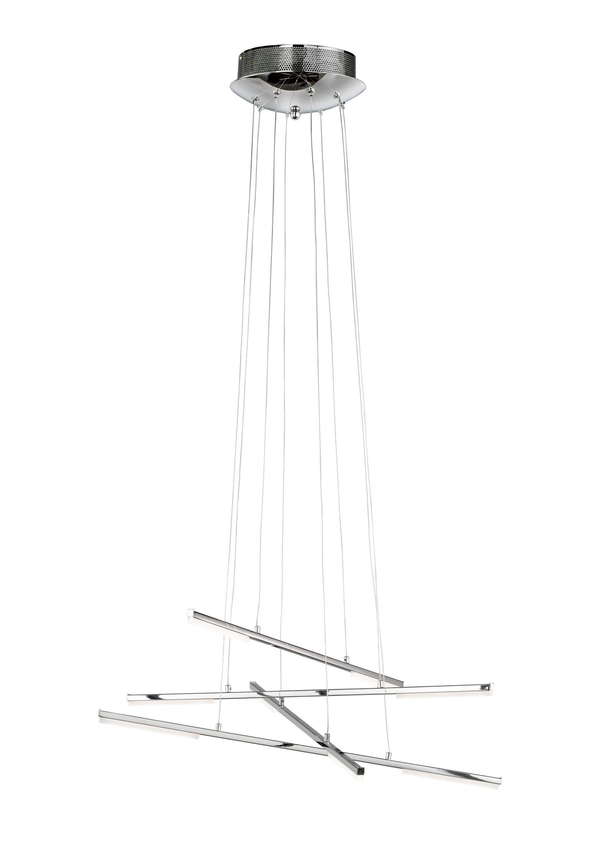 LED-HÄNGELEUCHTE - Chromfarben, Design, Metall (62/150/62cm)