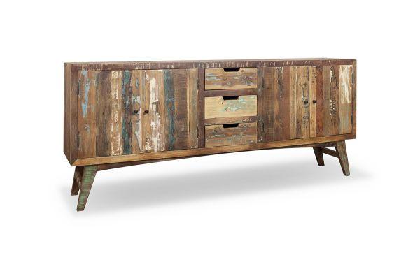 SIDEBOARD Recyclingholz massiv lackiert Multicolor - Multicolor, LIFESTYLE, Holz/Metall (200/85/40cm) - LANDSCAPE