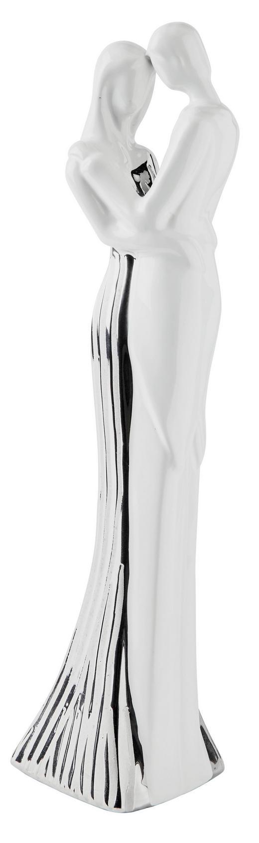 DEKODAME - Silberfarben/Weiß, Basics, Keramik (10/36,5/7,8cm) - Ambia Home