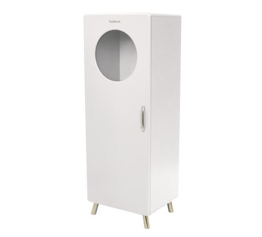 VITRINE Weiß  - Chromfarben/Weiß, Design, Holzwerkstoff/Metall (56/149/43cm) - Carryhome
