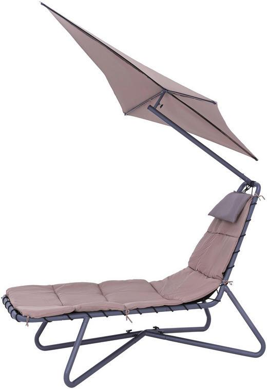 LEŽALJKA VRTNA - crna/taupe, Design, metal/tekstil (175/205/190cm) - Ambia Garden