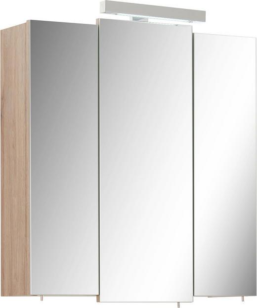 SPIEGELSCHRANK 68/73/20 cm - Eichefarben, Basics, Glas/Holzwerkstoff (68/73/20cm) - Xora