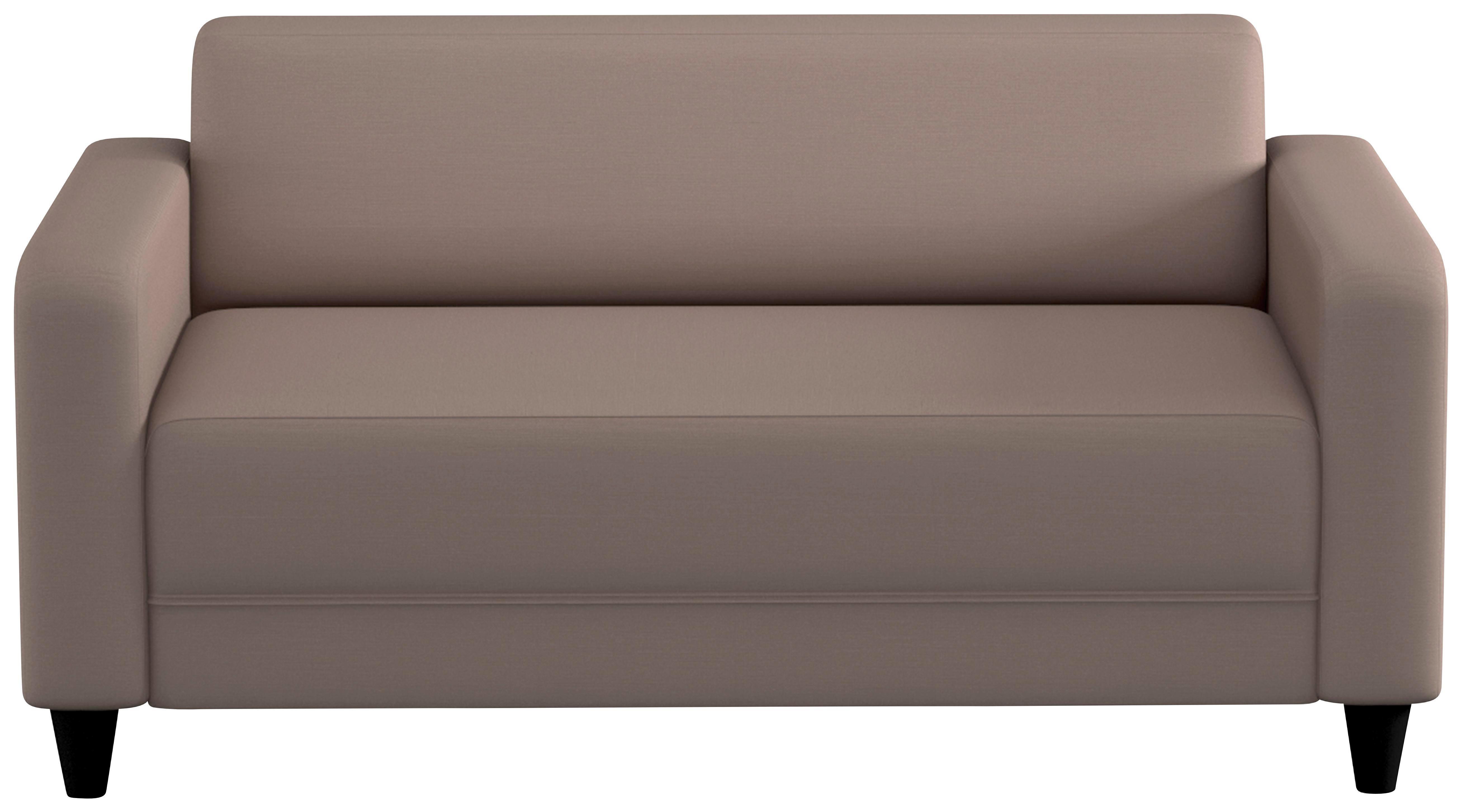 SOFA Taupe Taupe/Schwarz, KONVENTIONELL, Kunststoff/Textil (145/70