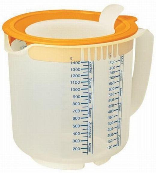 MESSBECHER - Klar/Orange, Basics, Kunststoff (15/17.5/16cm) - DR.OETKER