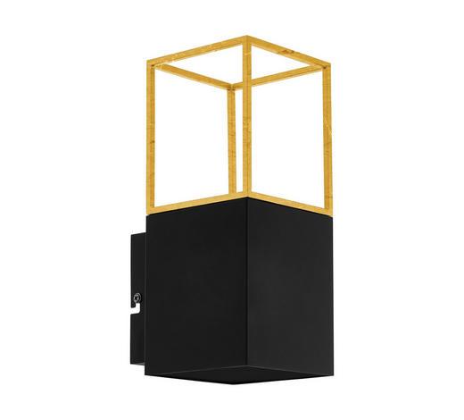 LED-WANDLEUCHTE - Goldfarben/Schwarz, Design, Metall (10cm)