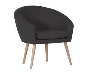 FOTELJ,  rjava tekstil - naravna/rjava, Design, tekstil (73/73/43/66cm) - Carryhome