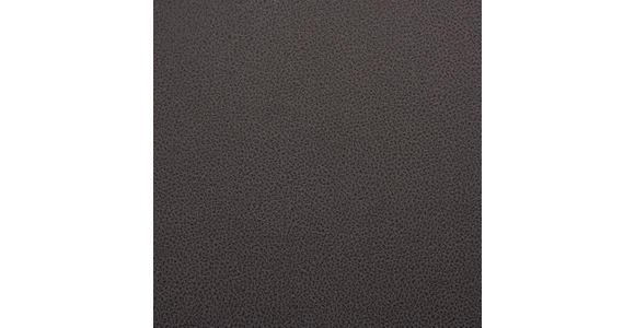 STUHL Lederlook, Mikrofaser Dunkelgrau, Edelstahlfarben - Edelstahlfarben/Dunkelgrau, Design, Textil/Metall (52,5/91,5/65,5cm) - Novel