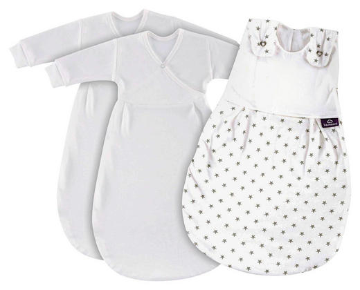 BABYSCHLAFSACKSET Liebmich - Weiß/Grau, Basics, Textil (50/56//null) - Träumeland