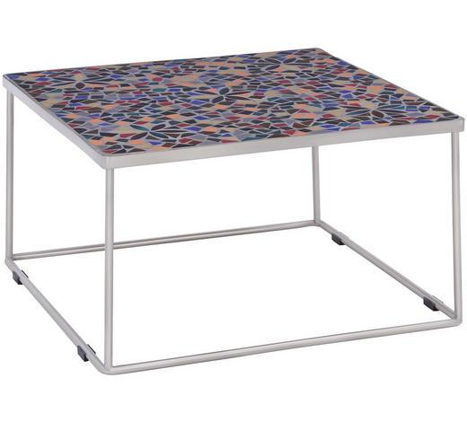 LOUNGETISCH 77/77/44 cm - Edelstahlfarben/Multicolor, Design, Stein/Metall (77/77/44cm) - Amatio