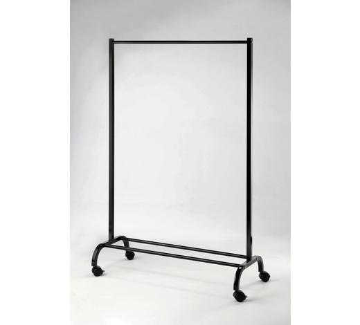 KLEIDERWAGEN Schwarz  - Schwarz, Basics, Kunststoff/Metall (97/146/44cm)