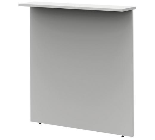 SICHTBLENDE - Hellgrau, Design, Holzwerkstoff (100/112,9/25cm)