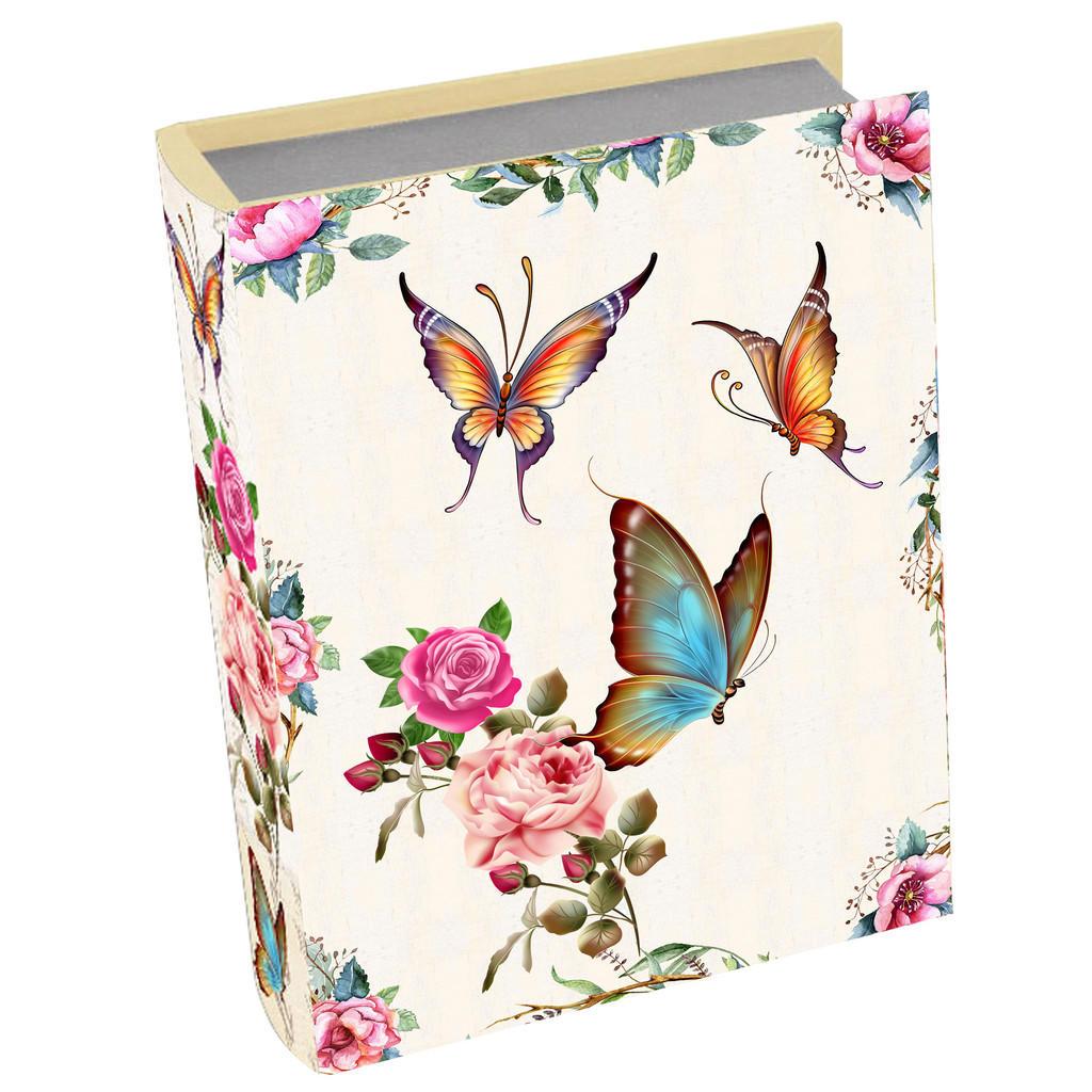 Image of Ambia Home Bücherbox 32/24/8 cm , Gf-Rwb0050 , Multicolor , Holzwerkstoff , 1 Fächer , 24x8x32 cm , bedruckt,Nachbildung , Deckel, Deckel aufklappbar, handgemacht , 008325004003