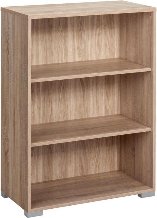 AKTENREGAL Eichefarben - Eichefarben/Silberfarben, Design, Holz/Kunststoff (80/110/40cm)