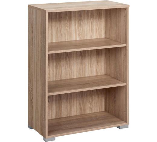 AKTENREGAL - Eichefarben/Silberfarben, KONVENTIONELL, Holz/Holzwerkstoff (80/110/40cm)