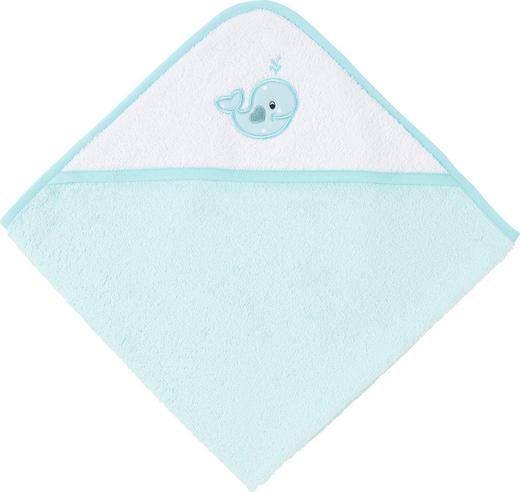 KAPUZENBADETUCH - Türkis/Blau, Basics, Textil (80/80/cm) - My Baby Lou