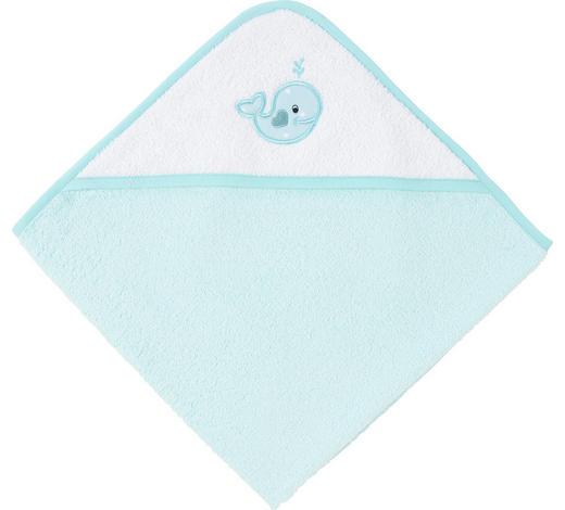 KAPUZENBADETUCH - Türkis/Blau, Basics, Textil (80/80cm) - My Baby Lou